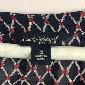 Lucky Brand Tops - Lucky Brand Flowy Beaded Blouse